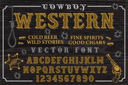 Font. Cowboy western