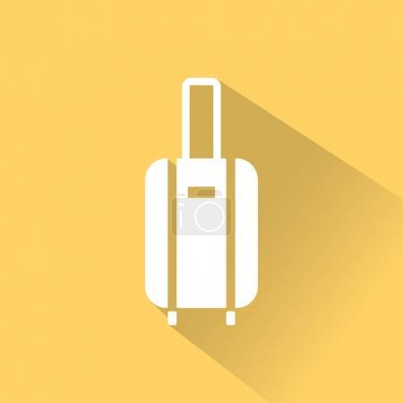 Illustration for Flat travel icon on yellow background. Vector illustration of luggage - Royalty Free Image