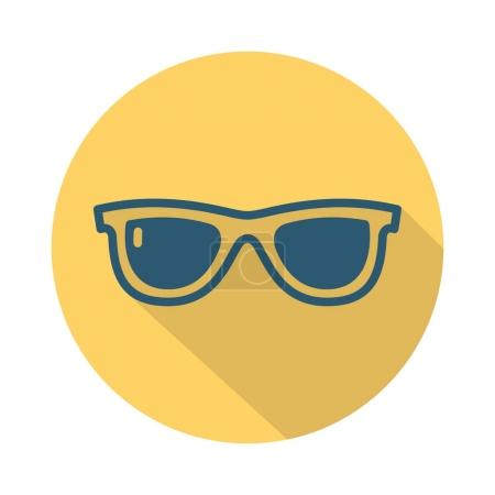 Flat travel icon