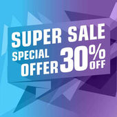 Shopping flyer design Special offer banner 30% Vector illustration
