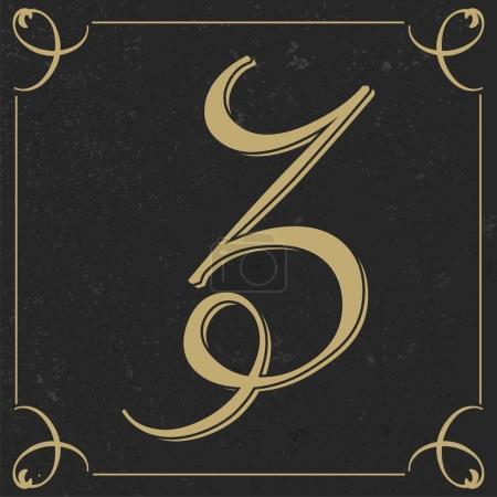 Old style letter design