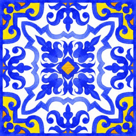 Portuguese azulejo tiles seamless patterns.