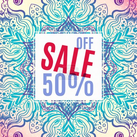 Delicate Banner Sale in ethnic Indian style