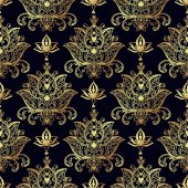 Seamless patterns of Russian motives of northern painting