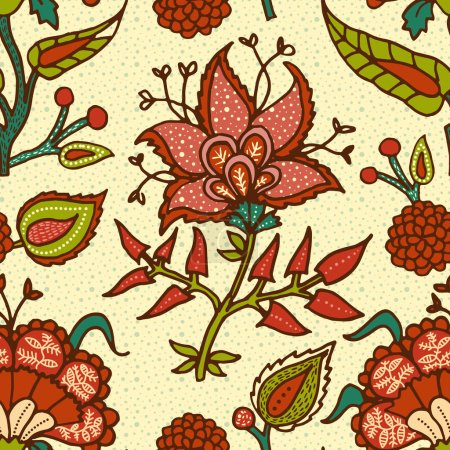 Indian National paisley ornament for cotton, linen fabrics.