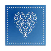 Template card heart with flowers for laser cutting scrapbooking Roses and wedding leaves save the date Valentine s Day Stencil for paper plastic wood