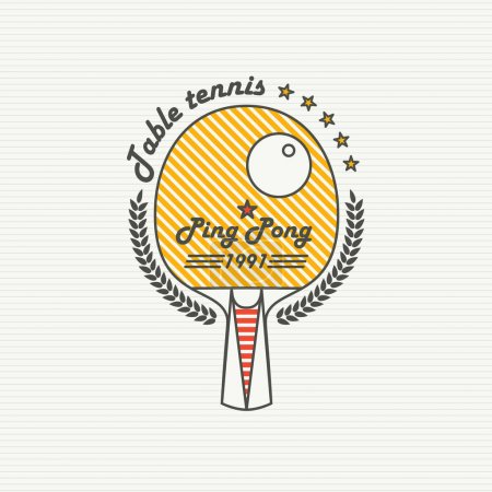Logo League Table Tennis. Ping pong