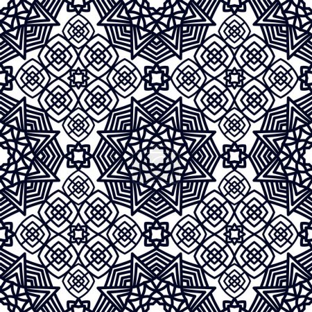 Illustration for Square Pattern panel for laser cutting with mandalas. Kirigami filigree pattern frame. For wedding invitation, envelope, baby shower, postcards. Suitable for printing, engraving, metal, wood. - Royalty Free Image