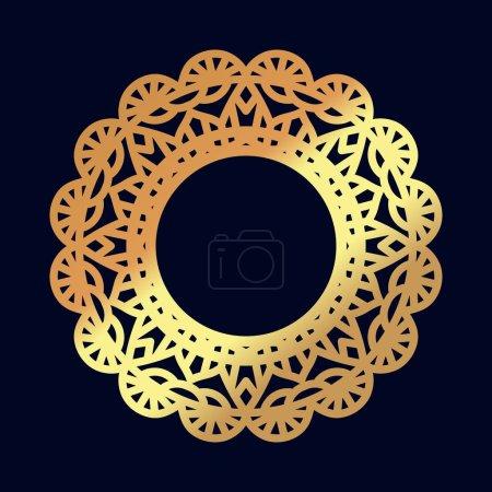 Photo pour Mandalas en or. Méditation indienne de mariage. Médaillon bouddhiste. Il peut être utilisé pour les impressions de tatouage sur les t-shirts, le design et les restaurants publicitaires. Pour les invitations de mariage de conception de cartes postales, superpositions de photos . - image libre de droit