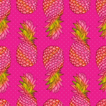 Pineapple creative trendy seamless pattern
