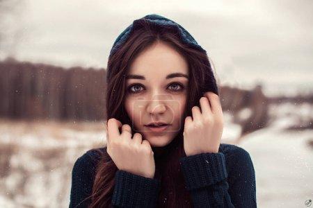 Her cold winter portrait
