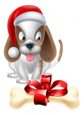 Christmas Cartoon Dog
