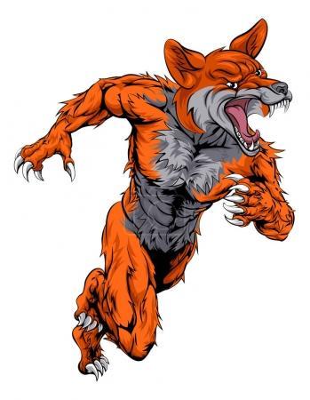 Fox sports mascot running