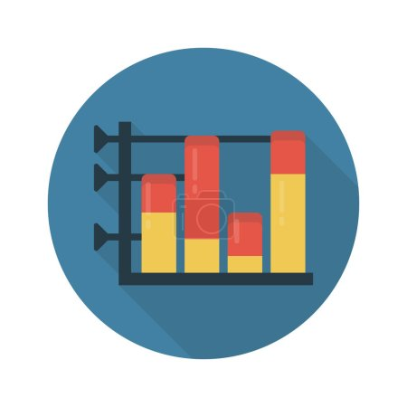 Illustration for Chart vector flat color icon - Royalty Free Image