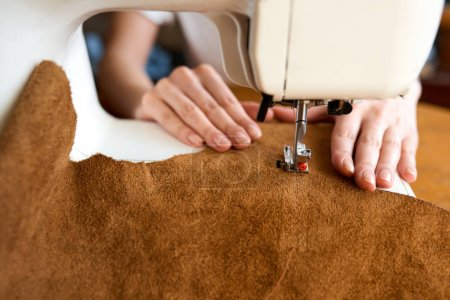 Artisan threading leather