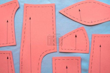 red Sewing pattern