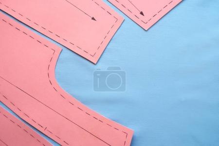Sewing pattern on fabrics