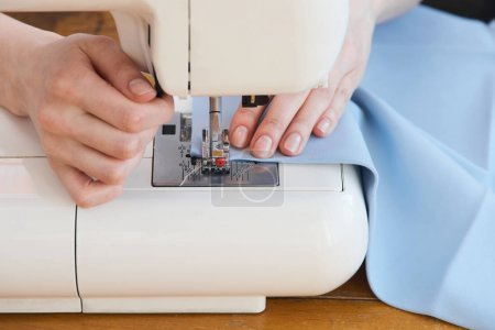 Tailor sewing fabrics