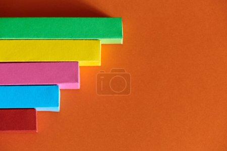Colourful bar charts