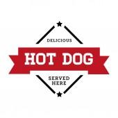 Hot Dog vintage stamp retro