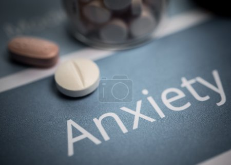 Photo for Anxiety related documents and drugs - Royalty Free Image