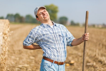 Farmer having back pain