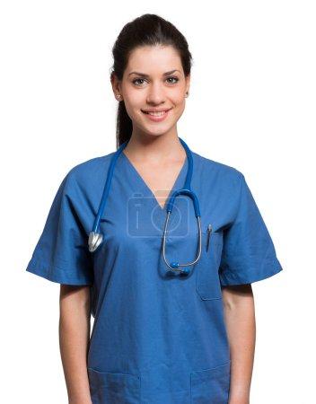 beautiful smiling nurse