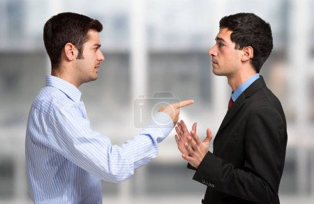 Business people having discussion