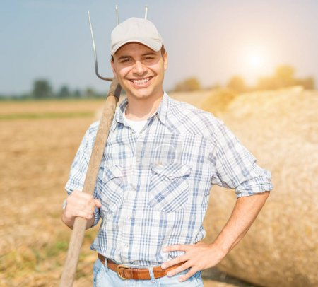 Smiling farmer at work