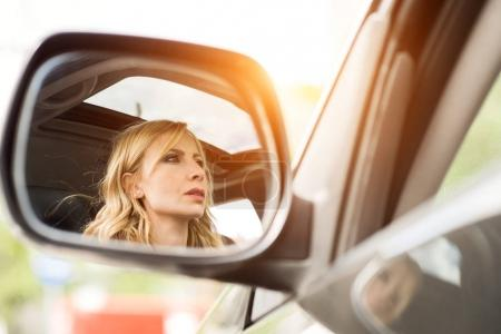 Photo for Young Woman driving car - Royalty Free Image