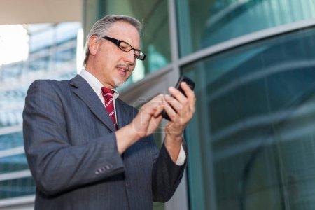 businessman using a smartphone