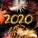2020 New Year fireworks background...