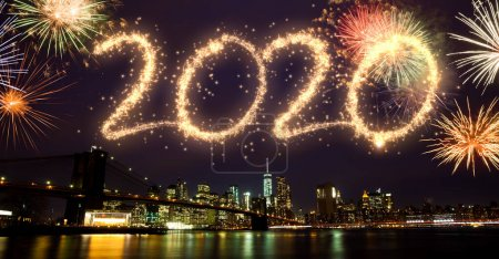 Photo for 2020 New Year Fireworks over New York - Royalty Free Image