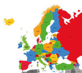 Detailed vector political map of Europe