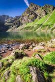 Stunning Czarny Staw Gasienicowy in Polish Mountains, Poland, Europe
