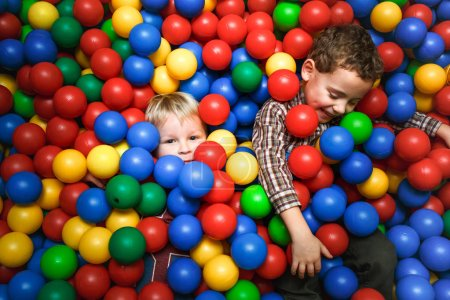 boys play in fun room