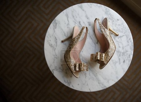 Beautiful bride's shoes