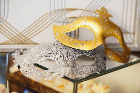 Venetian masks isolated on  background