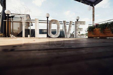 Stylish large Love sign