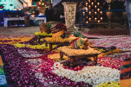 Photo for Indian place for wedding celebration in India - Royalty Free Image