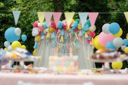 Delicious wedding reception candy bar