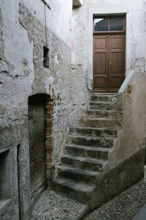 ancient houses in old town district