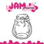 Preserve clipart jam jar vector illustration clip art Jam preserves clipart for logo label recipes Preserve jam jar vector illustration for card package Jam jar clipart vector illustration