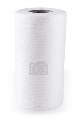 Roll of paper kitchen towels isolated on  white