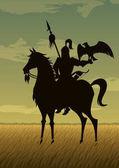 Mongol Warrior Illustration