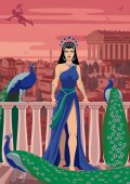 Hera Queen of the Greek gods among her favorite birds
