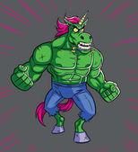 Cartoon Raging Unicorn