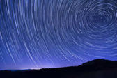 Star trails as seen from the Cowee Mountain Overlook