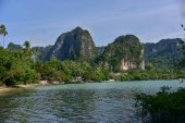 The beautiful panorama of Railay Beach in Krabi (Thailand)