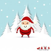 Christmas Greeting Card with Christmas Santa Claus. Vector illus